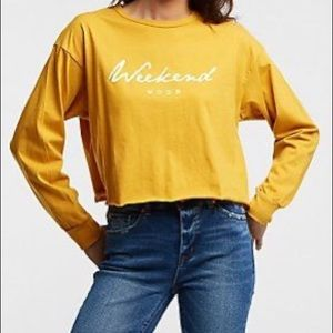 Charlotte Russe Yellow Crop Top